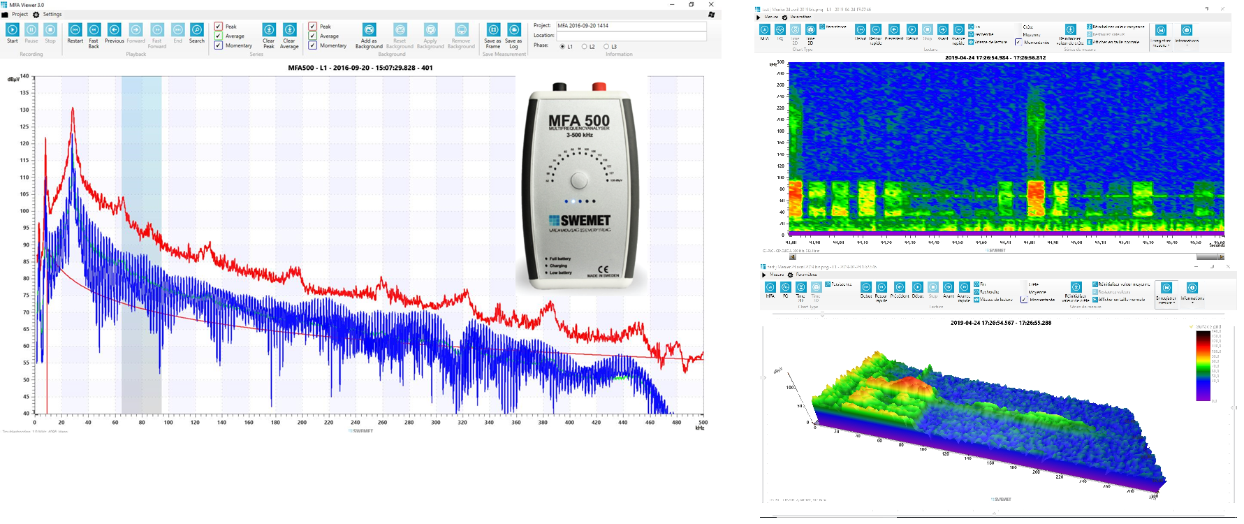 MFA500 - A professional device to measure the PLC of smartgrid